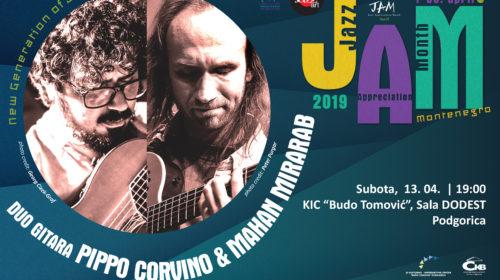 Dva koncerta duo gitara Pippo Corvino &Mahan Mirarab