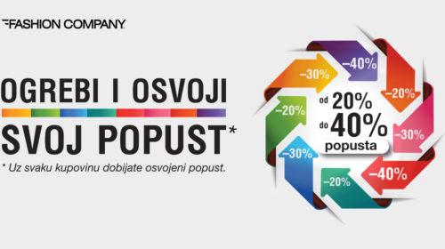 Modna avantura koju smo čekali: U prodavnicama Fashion company akcija Ogrebi&Osvoji popust 40%