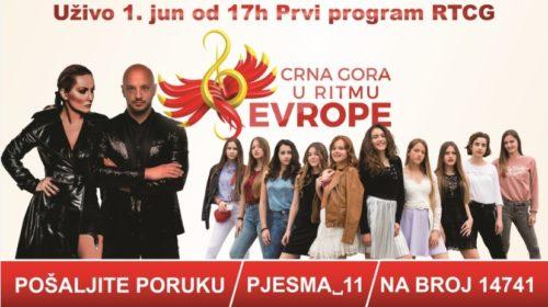"""Ko će pobijediti: Dječije muzičko takmičenje """"Crna Gora u ritmu Evrope"""""""