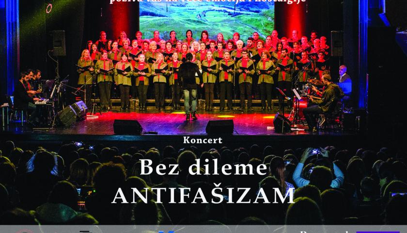 """Premijerno u Beogradu:  ,,Bez dileme – antifašizam"""" KIC pop hora 19. oktobra u ,,Kombank dvorani"""""""