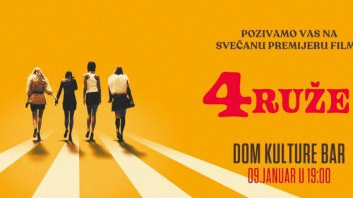 """Crnogorska premijera filma """"Četiri ruže"""" u Baru"""