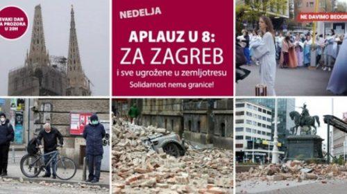Beograd poslao dirljivu podršku Zagrebu: U osam sati ljudi su u Beogradu s balkona pljeskali za glavni grad Hrvatske