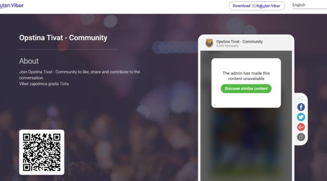 Viber zajednica Opštine Tivat značajan izvor informacija
