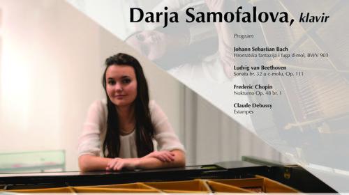Večeras solistički koncert pijanistkinje Darje Samofalove