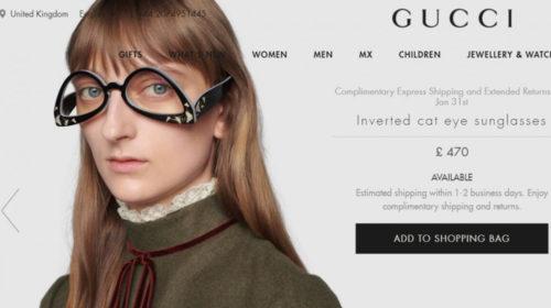 """Gucci"" ponovo izenađuje: Stigle naopake  naočare"
