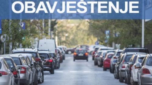 Besplatan parking za vrijeme praznika u dijelu Podgorice