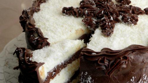 Kokos torta bez jaja, mlijeka i brašna