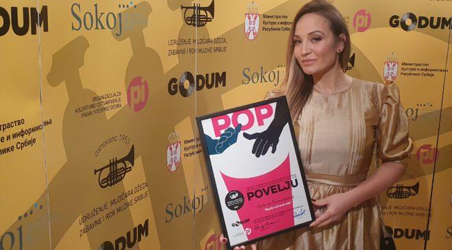 Jelena Tomašević dobila godišnju nagradu za najemitovaniju pjesmu
