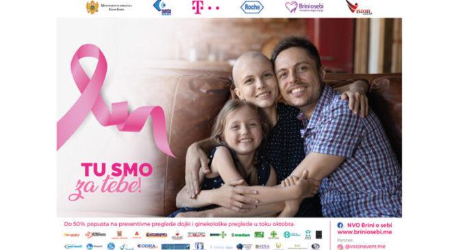 """Kampanja za prevenciju karcinoma dojke """"Pođi na kontrolu"""""""