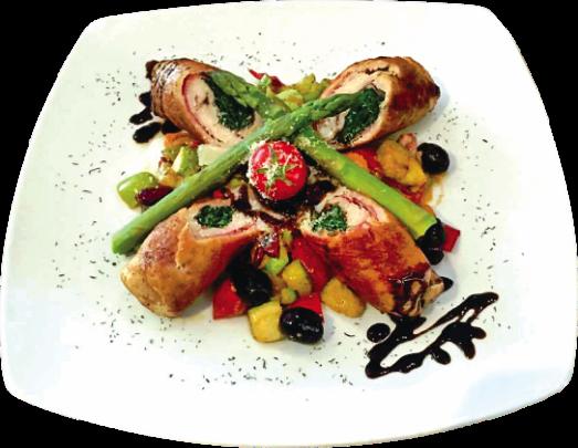 Rolovana ćuretina s povrćem