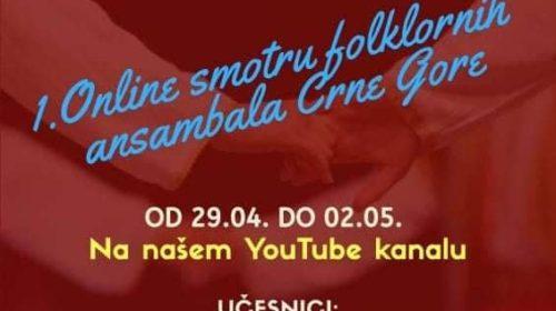 "Folklorni ansambl KIC-a ""Budo Tomović""na ""1. Online smotre folklornih ansambala Crne Gore"