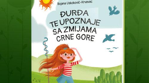 """Nova knjiga za djecu:""""Đurđa te upoznaje sa zmijama Crne Gore"""""""